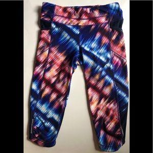 athleta colorful cropped leggings • size small